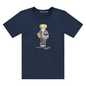 "POLO RALPH LAUREN - Camiseta Bear Football ""Marinho"" -NOVO-"