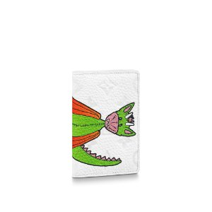 "LOUIS VUITTON - Porta Cartão Pocket Organizer Taurillon ""Branco"" -NOVO-"