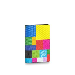"!LOUIS VUITTON - Porta Cartão Pocket Organizer Damier Graphite ""Multicolor"" -NOVO-"