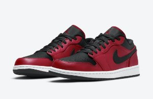 "!NIKE - Air Jordan 1 Low ""Reverse Bred Pebbled"" -NOVO-"