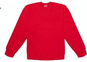 """SUPREME - Moletom Cutout Logo Crewneck """"Vermelho"""" -NOVO-"""