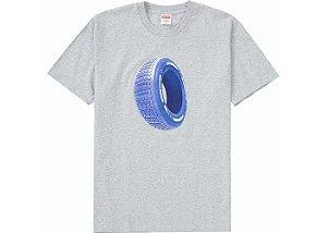 "SUPREME - Camiseta Tire Tee Heather ""Cinza"" -NOVO-"