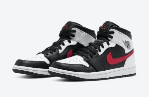 "NIKE - Air Jordan 1 Mid ""Black/Chile Red/ White -NOVO-"