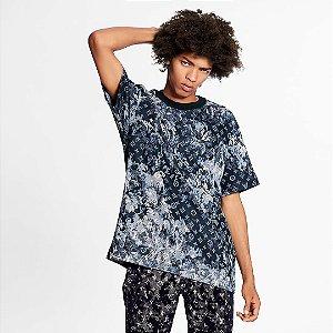 "LOUIS VUITTON - Camiseta Monogram Tapestry ""Azul Marinho"" -NOVO-"