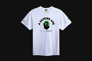 "ENCOMENDA - BAPE x RAZER - Camiseta A Bathing Ape ""Branco"" -NOVO-"