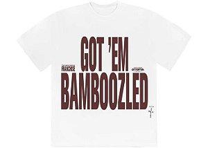 "TRAVIS SCOTT -  Camiseta Franchise Promo II Bamboozled ""Branco"" -NOVO-"