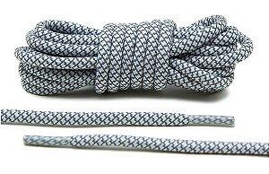 Cadarço Rope Refletivo - Branco e cinza - 125 cm