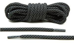 Cadarço Rope Refletivo - Preto e Cinza - 126 cm