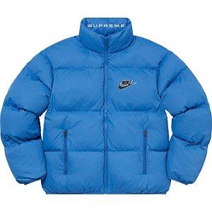 "ENCOMENDA - SUPREME x NIKE - Jaqueta Reversible Puffy SS21 ""Azul"" -NOVO-"
