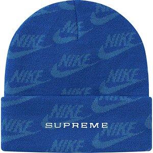 "ENCOMENDA - SUPREME x NIKE - Touca Jacquard Logos SS21 ""Azul"" -NOVO-"