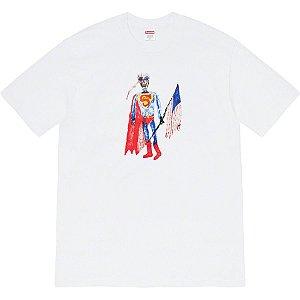 """SUPREME  Camiseta Skeleton """"Branco"""" -NOVO-"""