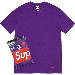 """!SUPREME x HANES - Camiseta UNIDADE """"Roxo"""" -NOVO-"""