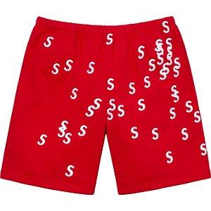 "ENCOMENDA - SUPREME - Bermuda Embroidered S ""Vermelho"" -NOVO-"