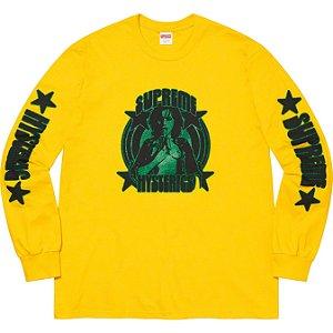 "ENCOMENDA - SUPREME x HYSTERIC GLAMOUR - Camiseta Manga Longa ""Amarelo"" -NOVO-"
