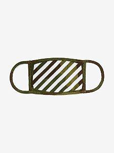 """!OFF-WHITE - Máscara Camo Stripe """"Verde"""" -NOVO-"""