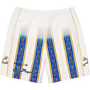 """ENCOMENDA - SUPREME - Bermuda Arabic Logo Soccer """"Branco"""" -NOVO-"""