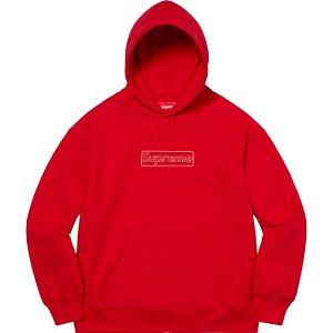 "ENCOMENDA - SUPREME x KAWS - Moletom Chalk Logo ""Vermelho"" -NOVO-"