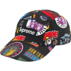 "ENCOMENDA - SUPREME - Boné GORE-TEX Long Bill ""Preto Stickers"" -NOVO"