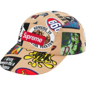 "DUPLICADO - ENCOMENDA - SUPREME - Boné GORE-TEX Long Bill ""Preto Stickers"" -NOVO"