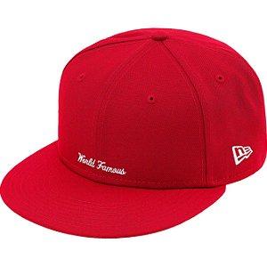 """ENCOMENDA - SUPREME x NEW ERA - Boné Reverse Box Logo """"Vermelho"""" -NOVO-"""