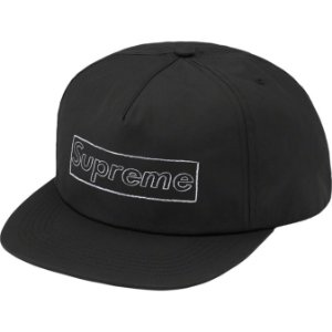 "ENCOMENDA - SUPREME x KAWS - Boné 5-Panel Chalk Logo ""Preto"" -NOVO-"