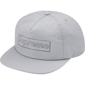 "ENCOMENDA - SUPREME x KAWS - Boné 5-Panel Chalk Logo ""Cinza"" -NOVO-"