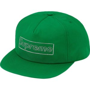 "ENCOMENDA - SUPREME x KAWS - Boné 5-Panel Chalk Logo ""Verde"" -NOVO-"