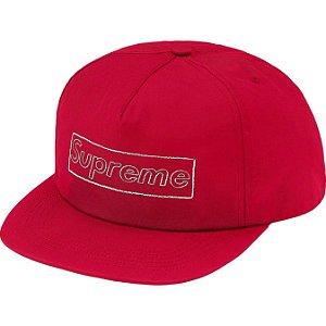 "ENCOMENDA - SUPREME x KAWS - Boné 5-Panel Chalk Logo ""Vermelho"" -NOVO-"