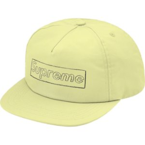 """ENCOMENDA - SUPREME x KAWS - Boné 5-Panel Chalk Logo """"Amarelo"""" -NOVO-"""