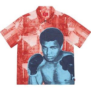 "ENCOMENDA - SUPREME - Camisa Muhammad Ali Zip Up ""Vermelho"" -NOVO-"