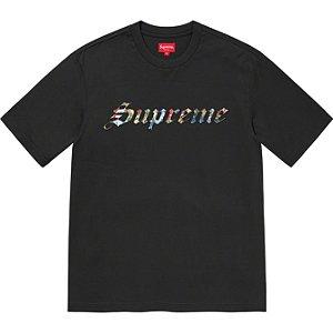 "ENCOMENDA - SUPREME - Camiseta Floral Appliqué ""Preto"" -NOVO-"