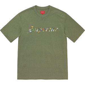 "ENCOMENDA - SUPREME - Camiseta Floral Appliqué ""Verde"" -NOVO-"