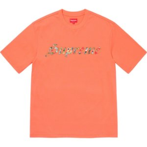 "ENCOMENDA - SUPREME - Camiseta Floral Appliqué ""Laranja"" -NOVO-"