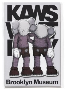 "KAWS x Brooklyn Museum - Ímã ALONG THE WAY ""Cinza"" -NOVO-"