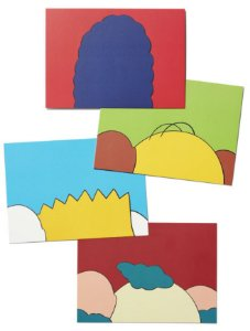 "KAWS x Brooklyn Museum - Cartão Postal ""KIMPSONS"" (Kit c/ 4) -NOVO-"