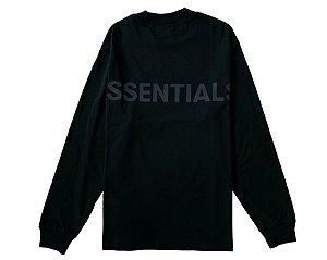 "FOG - Camiseta Manga Longa Essentials Logo Boxy ""Preto"" -NOVO-"