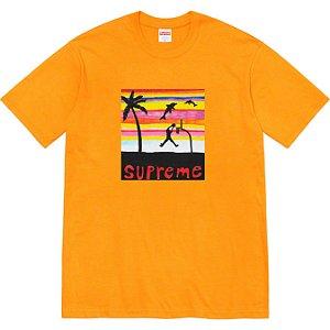 """ENCOMENDA - SUPREME - Camiseta Dunk """"Laranja"""" -NOVO-"""