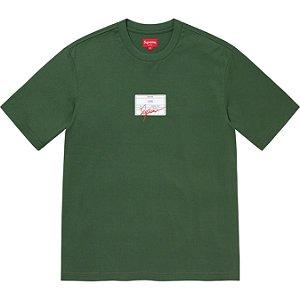 """ENCOMENDA - SUPREME - Camiseta Signature Label """"Verde"""" -NOVO-"""