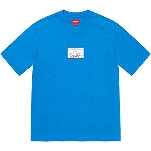 "ENCOMENDA - SUPREME - Camiseta Signature Label ""Azul"" -NOVO-"