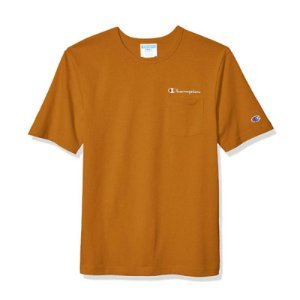 "CHAMPION - Camiseta Heritage Pocket ""Laranja Queimado"" -NOVO-"