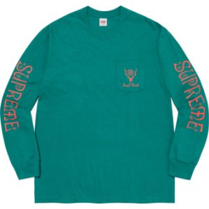 "ENCOMENDA - SUPREME x SOUTH2 WEST8 - Camiseta Manga Longa Pocket ""Verde"" -NOVO-"