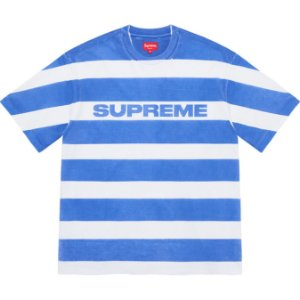 "ENCOMENDA - SUPREME - Camiseta Printed Stripe ""Azul"" -NOVO-"