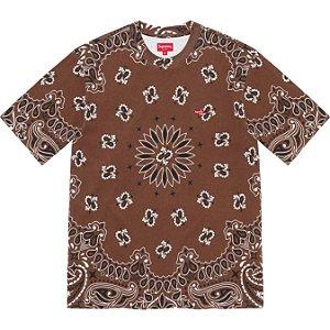 "ENCOMENDA - SUPREME - Camiseta Small Box ""Bandana Marroml"" -NOVO-"