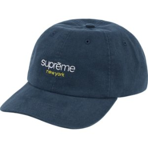 """ENCOMENDA - SUPREME - Boné 6-Panel Classic Logo """"Marinho"""" -NOVO-"""
