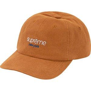 """ENCOMENDA - SUPREME - Boné 6-Panel Classic Logo """"Marrom"""" -NOVO-"""