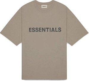 """!FOG - Camiseta Essentials 3D Silicon Applique """"Taupe"""" -NOVO-"""