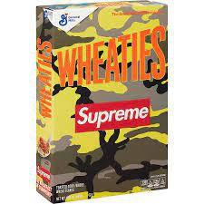 "SUPREME x WHEATIES - Caixa de Cereal ""Amarelo"" -NOVO-"