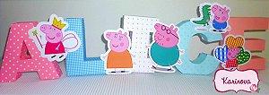 Letras 3D - Peppa Pig
