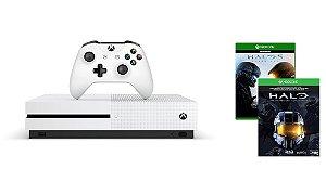 Console Microsoft Xbox One S 500GB com Halo 5 e Collection - LANÇAMENTO