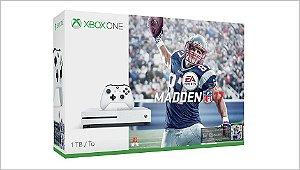 Console Microsoft Xbox One S - 1TB (1000GB) - Edição com Madden NFL 17 - LANÇAMENTO